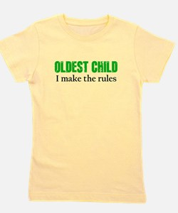 OLDEST CHILD (green) Girl's Tee