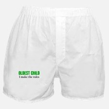 OLDEST CHILD (green) Boxer Shorts