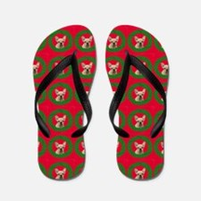 Christmas French Bulldog Flip Flops