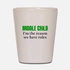 MIDDLE CHILD (green) Shot Glass
