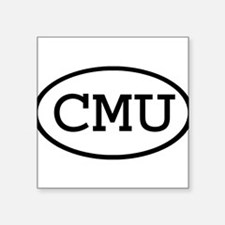 "Cute Cmu Square Sticker 3"" x 3"""