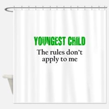 YOUNGEST CHILD (green reverse) Shower Curtain