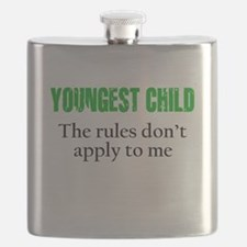 YOUNGEST CHILD (green reverse) Flask