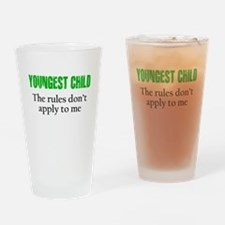 YOUNGEST CHILD (green reverse) Drinking Glass
