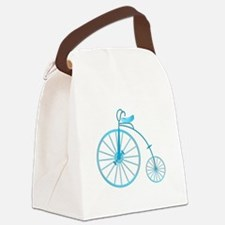 Blue Old Fashioned Canvas Lunch Bag