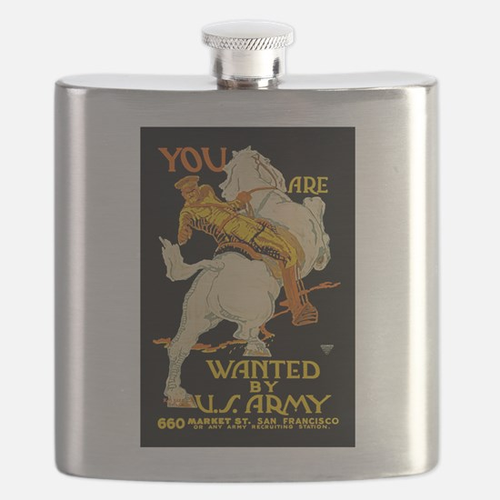 US Army You Are Wanted WWI Propaganda Flask