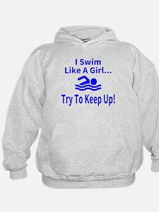 Funny Swimming girl Hoodie