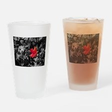 Singled Outed Maple Leaf Drinking Glass