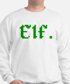 8-bit Elf Retro Gamer Vintage Pixel Art Jumper