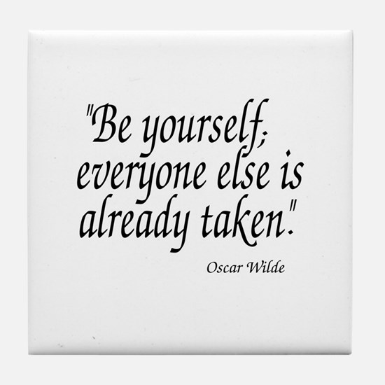 Oscar Wilde Quote Tile Coaster