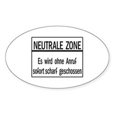 Neutrale Zone, Cold War Berlin Oval Decal