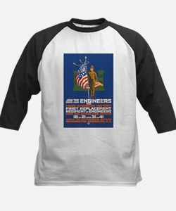 US Army Join the Engineers W Kids Baseball Jersey