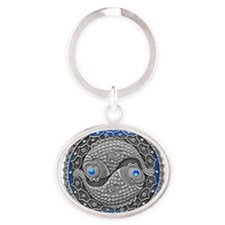 Unique 19 Oval Keychain