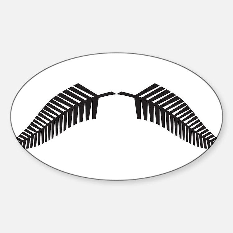 Cute All blacks Sticker (Oval)