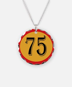 Number 75 Necklace