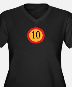 Number 10 Plus Size T-Shirt