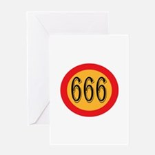 Number 666 Greeting Cards