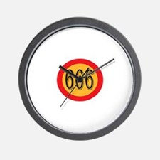 Number 666 Wall Clock