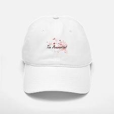 Tax Accountant Artistic Job Design with Hearts Baseball Baseball Cap