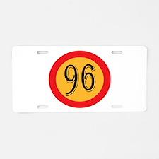 Number 96 Aluminum License Plate