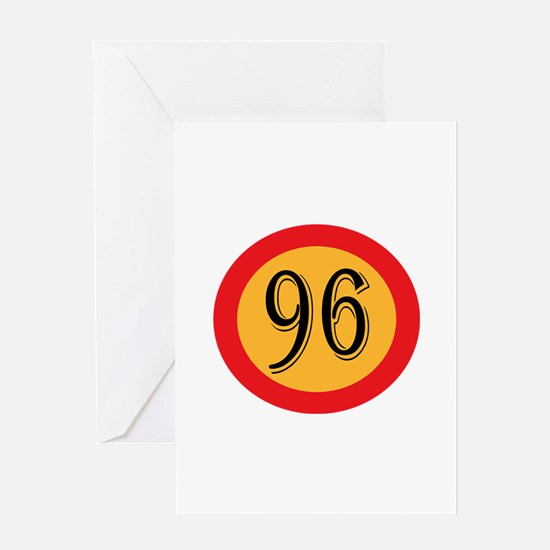 Number 96 Greeting Cards