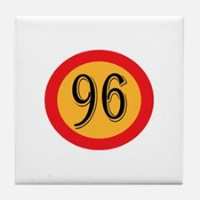 Number 96 Tile Coaster