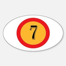 Number 7 Decal