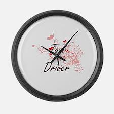 Taxi Driver Artistic Job Design w Large Wall Clock
