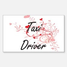 Taxi Driver Artistic Job Design with Heart Decal