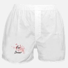 Taxi Driver Artistic Job Design with Boxer Shorts