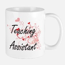 Teaching Assistant Artistic Job Design with H Mugs