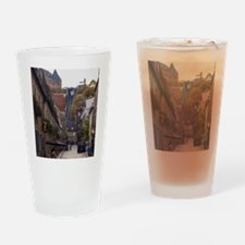 Rue Sous Le Fort Drinking Glass