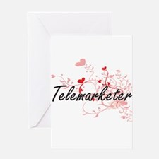 Telemarketer Artistic Job Design wi Greeting Cards