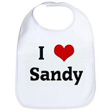I Love Sandy Bib