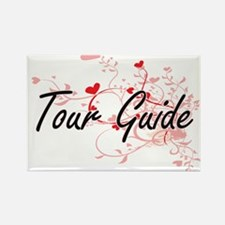 Tour Guide Artistic Job Design with Hearts Magnets
