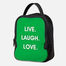 LIVE, LAUGH, LOVE. Neoprene Lunch Bag