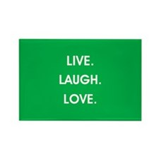 LIVE, LAUGH, LOVE. Magnets