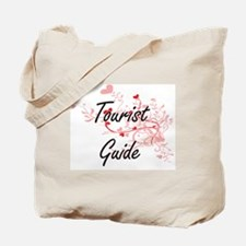 Tourist Guide Artistic Job Design with He Tote Bag