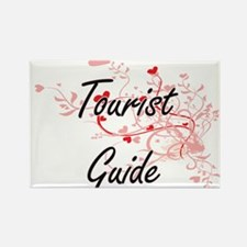 Tourist Guide Artistic Job Design with Hea Magnets