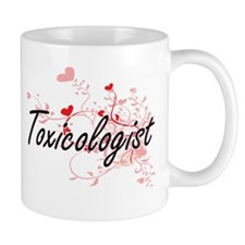 Toxicologist Artistic Job Design with Hearts Mugs