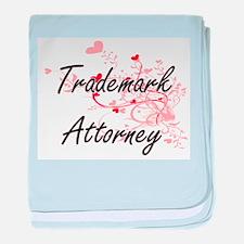 Trademark Attorney Artistic Job Desig baby blanket