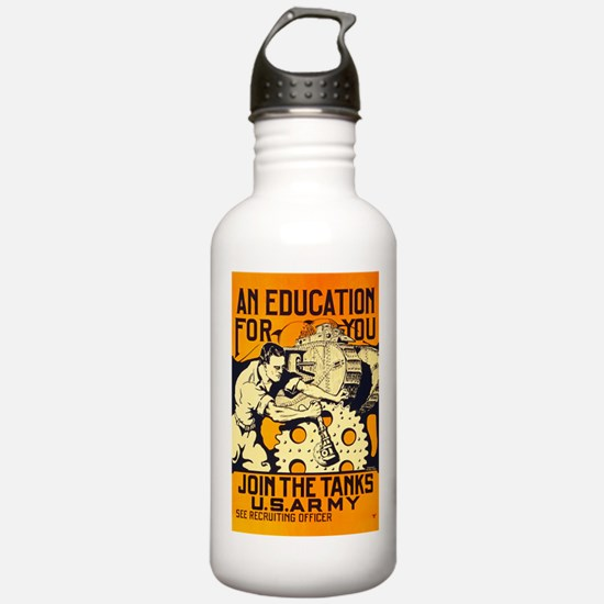 US Army Join the Tank Water Bottle