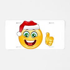 santa claus emoji Aluminum License Plate