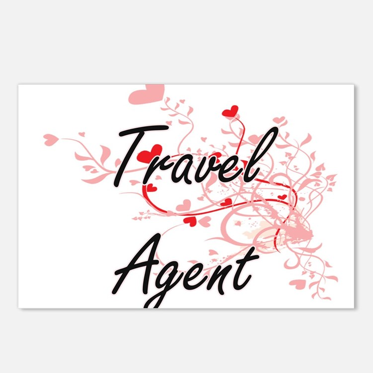 Travel Agent Artistic Job Postcards (Package of 8)