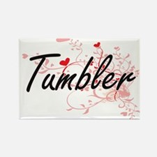 Tumbler Artistic Job Design with Hearts Magnets