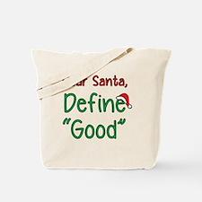 Cute Dear santa Tote Bag