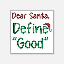 "Cute Dear santa Square Sticker 3"" x 3"""