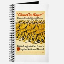 National Guard Come On Boys WWI Propaganda Journal