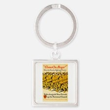 National Guard Come On Boys WWI Pr Square Keychain