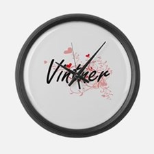 Vintner Artistic Job Design with Large Wall Clock